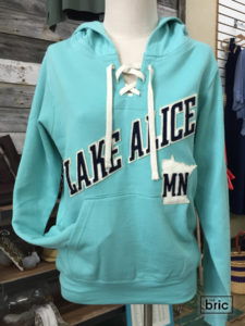 lake alice hoodie, tiffany blue, hockey style laced front
